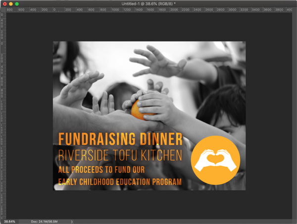 the final flyer created in InDesign