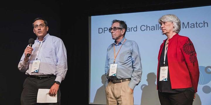 Ken Tsunoda, Daniel Ben-Horin, and Rebecca Masisak announce the challenge