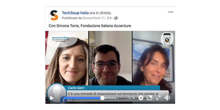 three participants in a Facebook live-stream