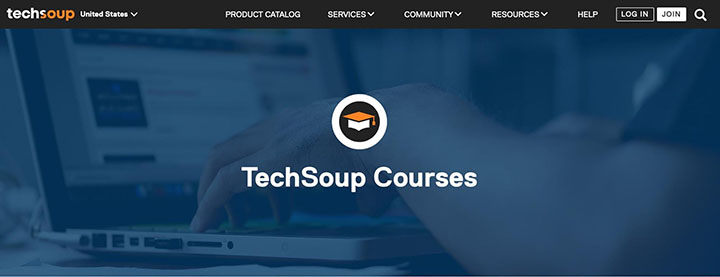 the TechSoup Courses page