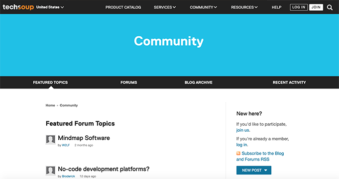 the Featured Forum Topics page
