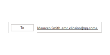 a To field showing the recipient as Maureen Smith <mr_eliosino@qq.com>