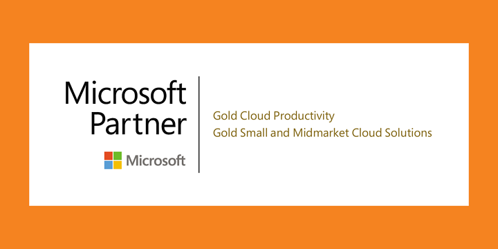 Microsoft Partner certificate showing Gold Cloud Productivity and Gold Small and Midmarket Cloud Solutions