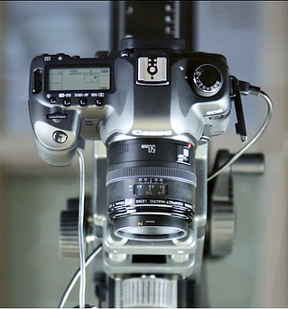 overhead view of a digital camera