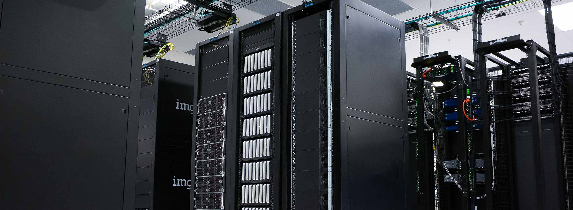 a large datacenter filled with servers symbolizing migration to the cloud for nonprofits