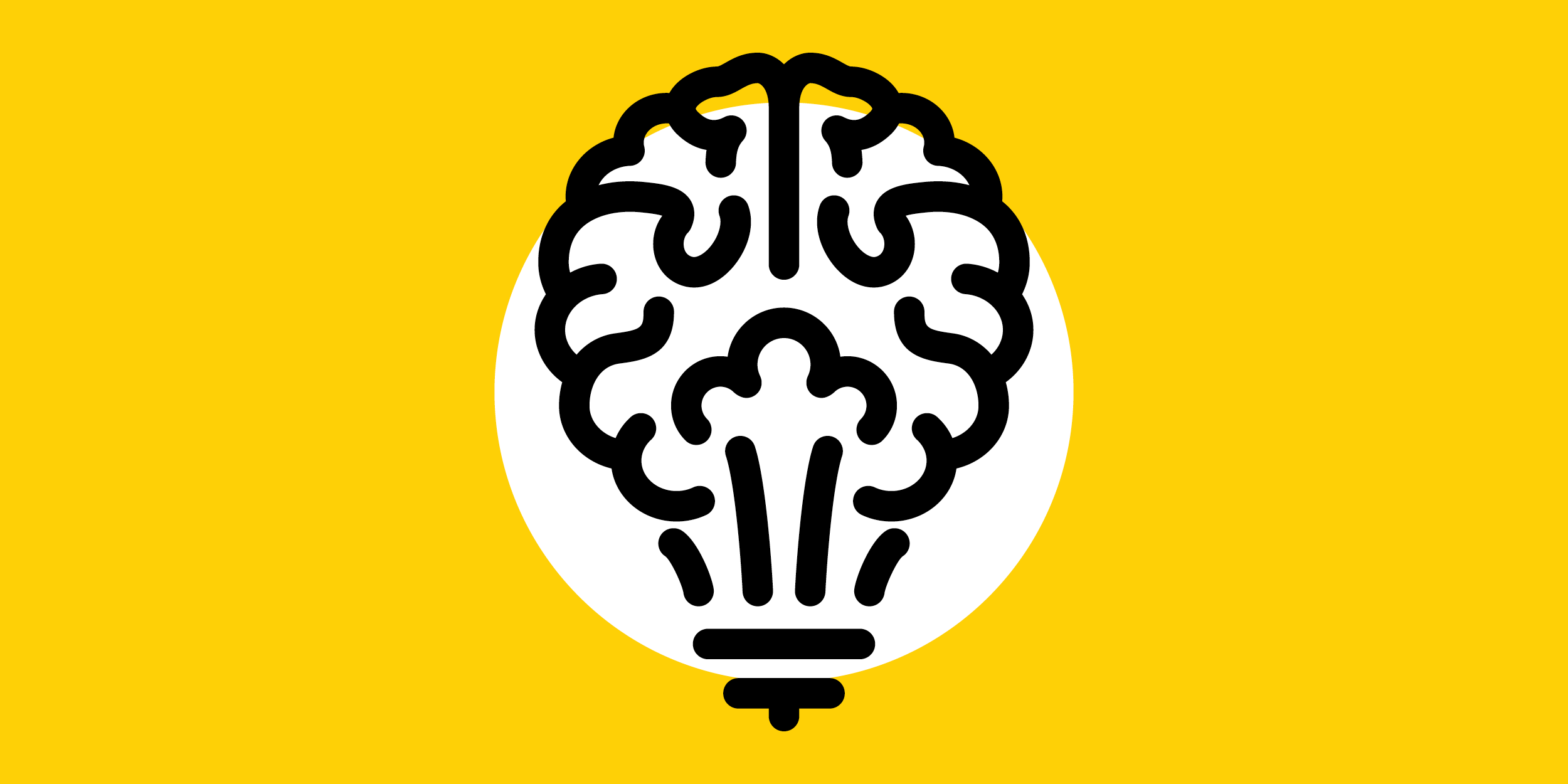 illustration of a brain functioning as a lightbulb