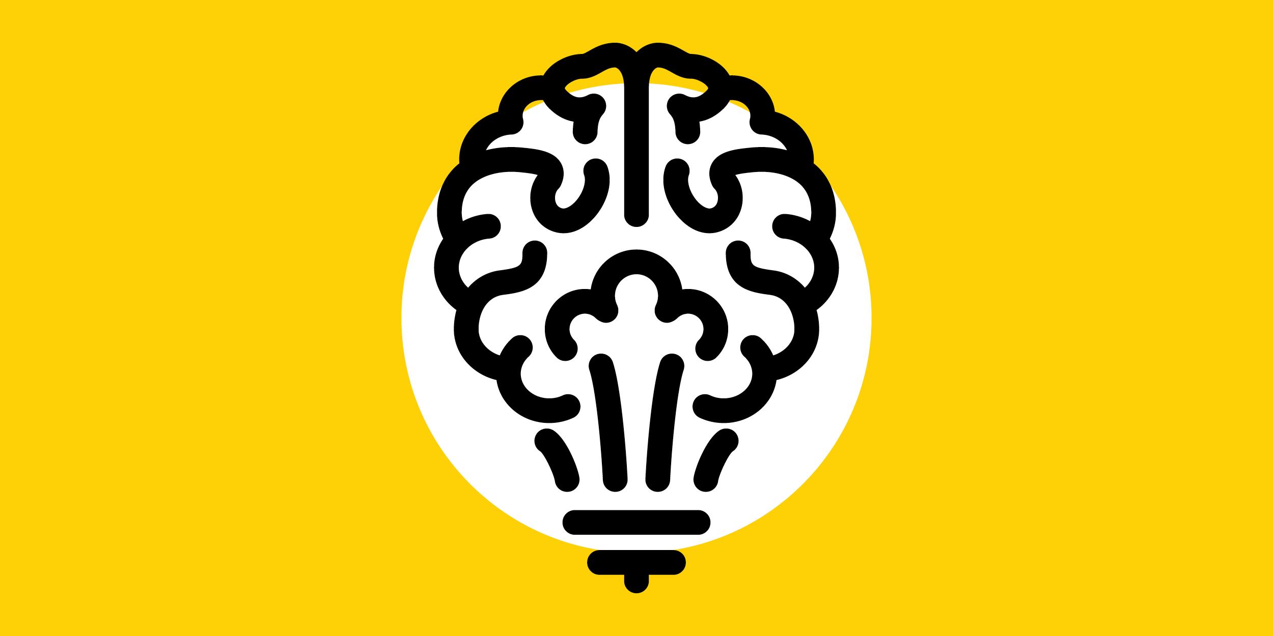illustration of a brain functioning as a lightbulb