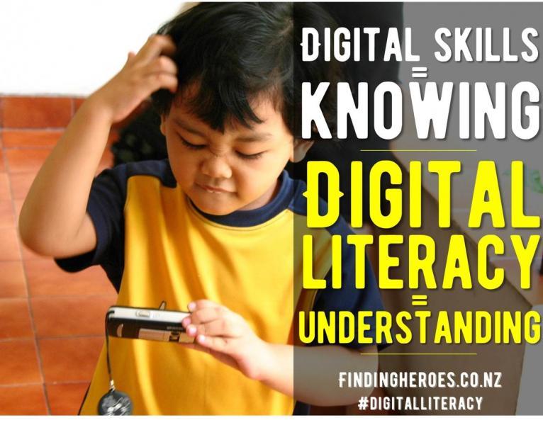 Does he have digital skills or digital literacy?